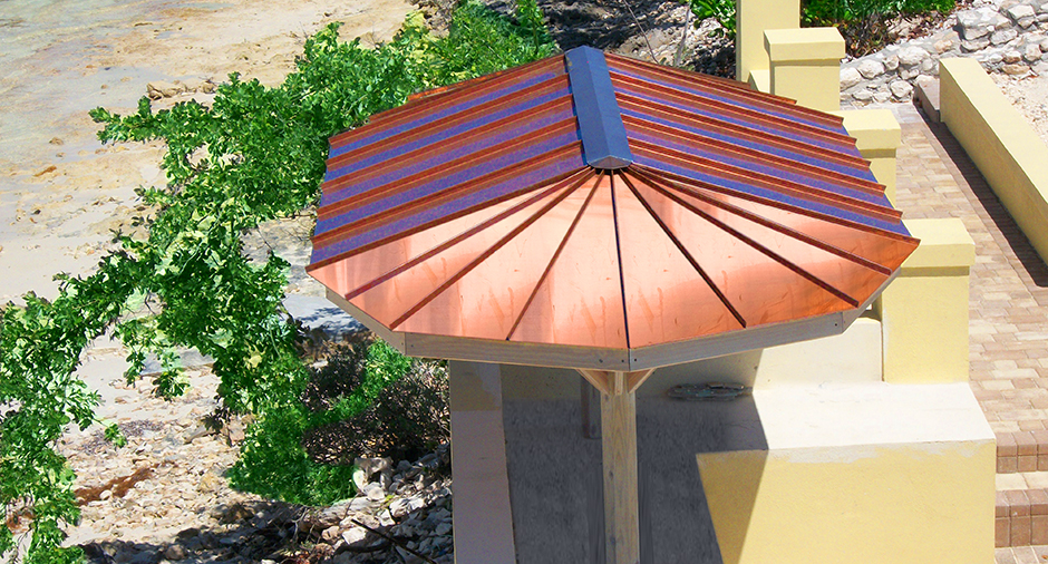 Copper Gazebo Roof in Bahamas