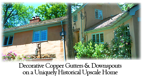 Historical Westchester NY home with copper gutters and downspouts by Cratsman Metal