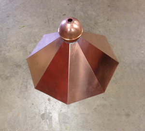 Craftsman Metal Custom Created Copper Finial