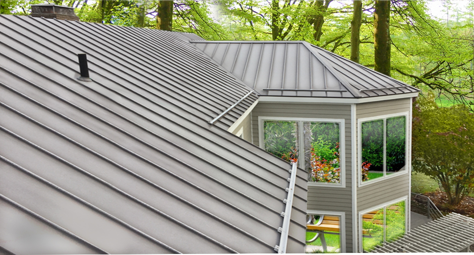 Architectural Metal Roof with Ice Dam Drip Edge